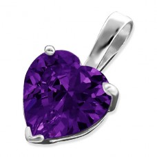 Heart - 925 Sterling Silver Pendants with Zirconia stones A4S16353