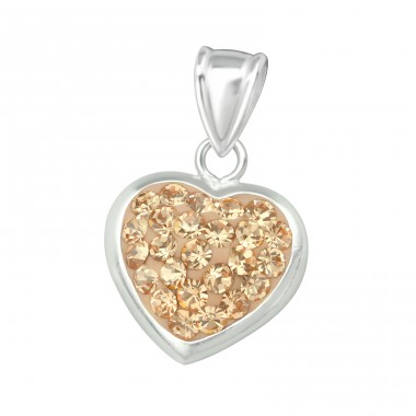 Heart - 925 Sterling Silver Pendants with Zirconia stones A4S16577