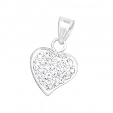Heart - 925 Sterling Silver Pendants with Zirconia stones A4S16578