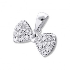 Bow - 925 Sterling Silver Pendants with Zirconia stones A4S16698