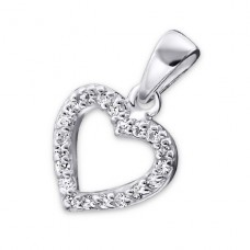 Heart - 925 Sterling Silver Pendants with Zirconia stones A4S16809