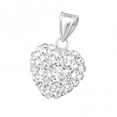 Heart - 925 Sterling Silver Pendants with Zirconia stones A4S17902
