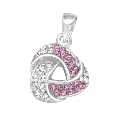 Triangle - 925 Sterling Silver Pendants with Zirconia stones A4S18560
