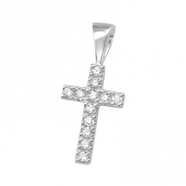 Cross - 925 Sterling Silver Pendants with Zirconia stones A4S19517