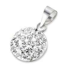 Round - 925 Sterling Silver Pendants with Zirconia stones A4S19518