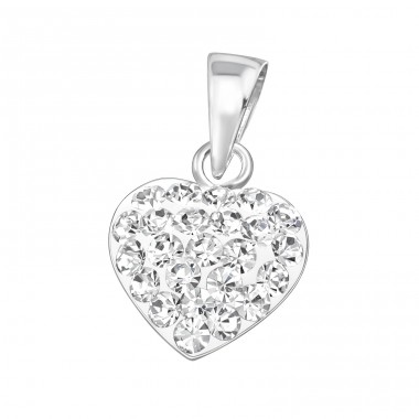 Heart - 925 Sterling Silver Pendants with Zirconia stones A4S19519
