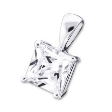 Square - 925 Sterling Silver Pendants with Zirconia stones A4S19826