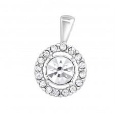 Round - 925 Sterling Silver Pendants with Zirconia stones A4S20332