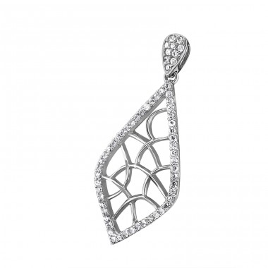 Kite - 925 Sterling Silver Pendants with Zirconia stones A4S20414