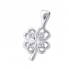 Clover Leaf - 925 Sterling Silver Pendants with Zirconia stones A4S20761