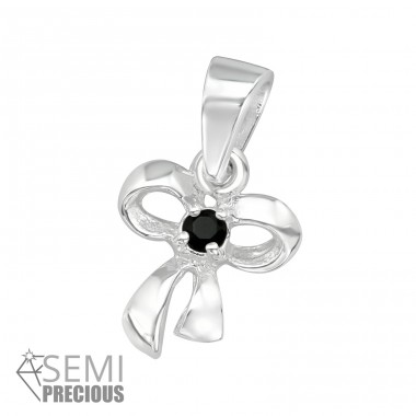 Ribbon - 925 Sterling Silver Pendants with Zirconia stones A4S23962