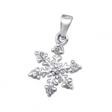 Snowflake - 925 Sterling Silver Pendants with Zirconia stones A4S25696