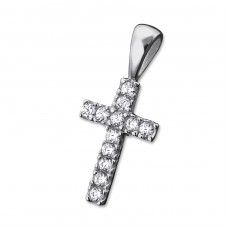 Cross - 925 Sterling Silver Pendants with Zirconia stones A4S27562