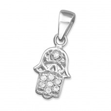 Hamsa - 925 Sterling Silver Pendants with Zirconia stones A4S30433