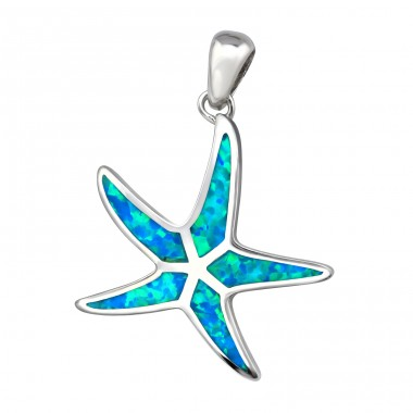 Starfish Opal - 925 Sterling Silver Pendants with Zirconia stones A4S34305