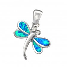 Dragonfly Opal - 925 Sterling Silver Pendants with Zirconia stones A4S34306
