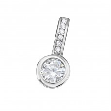 Classic - 925 Sterling Silver Pendants with Zirconia stones A4S34332