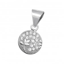 Round - 925 Sterling Silver Pendants with Zirconia stones A4S34447
