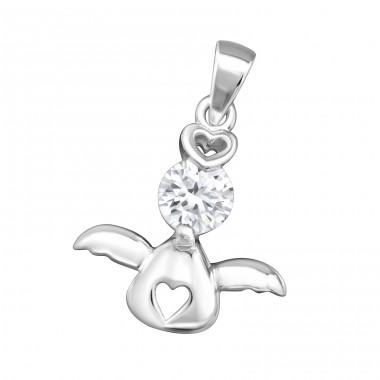 Angel - 925 Sterling Silver Pendants with Zirconia stones A4S34578
