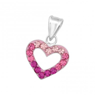 Heart - 925 Sterling Silver Pendants with Zirconia stones A4S34992