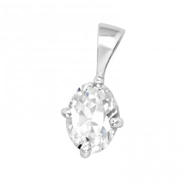 Oval - 925 Sterling Silver Pendants with Zirconia stones A4S35323
