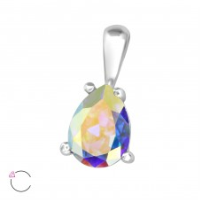 Teardrop - 925 Sterling Silver Pendants with Zirconia stones A4S35608