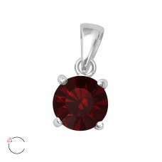 Round - 925 Sterling Silver Pendants with Zirconia stones A4S36086