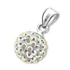 Ball - 925 Sterling Silver Pendants with Zirconia stones A4S3640