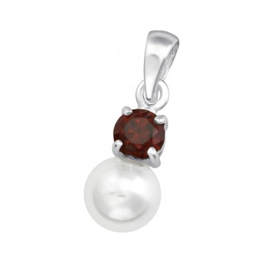 Round - 925 Sterling Silver Pendants with Zirconia stones A4S36431