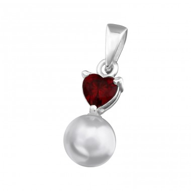 Heart - 925 Sterling Silver Pendants with Zirconia stones A4S36533