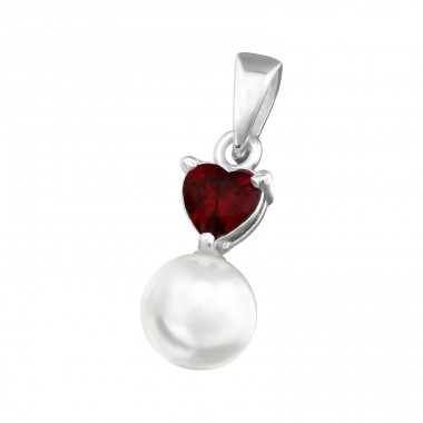 Heart - 925 Sterling Silver Pendants with Zirconia stones A4S36534