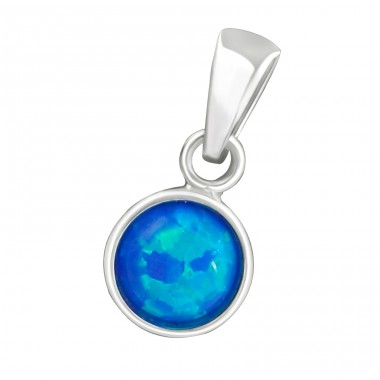 Round - 925 Sterling Silver Pendants with Zirconia stones A4S36855