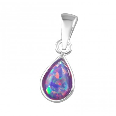Pear - 925 Sterling Silver Pendants with Zirconia stones A4S36857