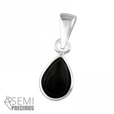 Pear - 925 Sterling Silver Pendants with Zirconia stones A4S36858