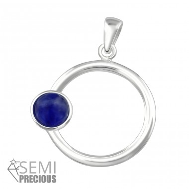 Round - 925 Sterling Silver Pendants with Zirconia stones A4S36860