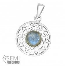 Round - 925 Sterling Silver Pendants with Zirconia stones A4S36862