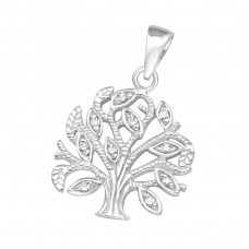 Tree Of Life - 925 Sterling Silver Pendants with Zirconia stones A4S36863