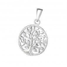 Tree Of Life - 925 Sterling Silver Pendants with Zirconia stones A4S36864