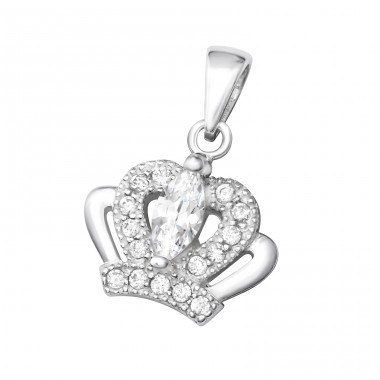 Crown - 925 Sterling Silver Pendants with Zirconia stones A4S36865