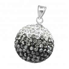 Crystal Ball - 925 Sterling Silver Pendants with Zirconia stones A4S37369