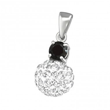 Round - 925 Sterling Silver Pendants with Zirconia stones A4S37623