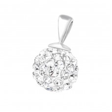 Round - 925 Sterling Silver Pendants with Zirconia stones A4S37624