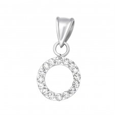 Circle - 925 Sterling Silver Pendants with Zirconia stones A4S38057