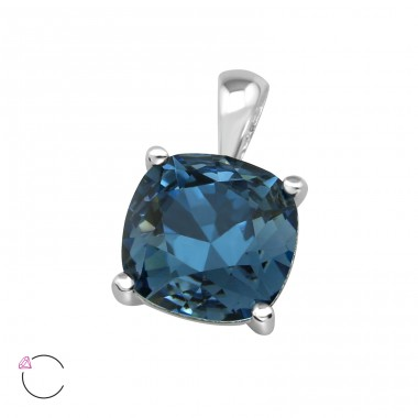 Square - 925 Sterling Silver Pendants with Zirconia stones A4S39432
