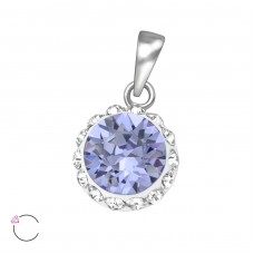 Round - 925 Sterling Silver Pendants with Zirconia stones A4S39468