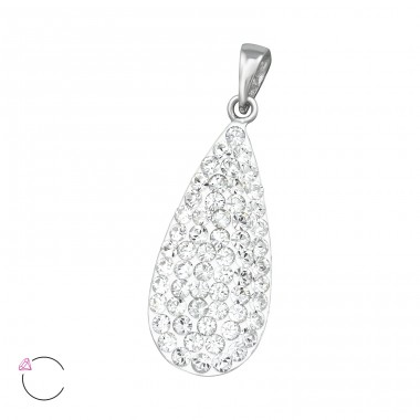 Pear - 925 Sterling Silver Pendants with Zirconia stones A4S39548
