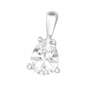 Tear - 925 Sterling Silver Pendants With Zirconia Stones A4S40685