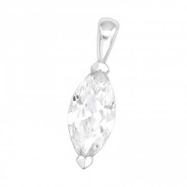 Marquise - 925 Sterling Silver Pendants with Zirconia stones A4S40996