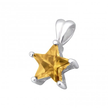 Star - 925 Sterling Silver Pendants with Zirconia stones A4S5550