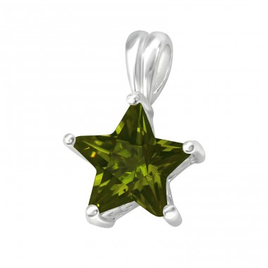 Star - 925 Sterling Silver Pendants with Zirconia stones A4S5553